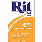 אבקת צבע לבדים Rit Dye Powder - Sunshine Orange