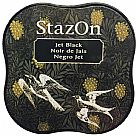דיו יבש - StazOn Midi Ink Pad - Jet Black