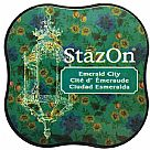 דיו יבש - StazOn Midi Ink Pad - Emerald City