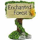 מיניאטורה - Fairy Garden Enchanted Forest Sign