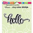 חותמת קלינג - Cling Stamp - Big Brush Hello