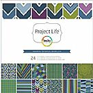 Project Life Rain Collection - 12X12 Designer Paper Pack