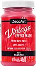 Vintage Effect Wash - Red