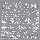 "Americana Decor Stencil 12""x12"" - French Living"