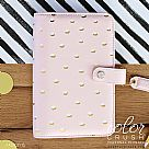 Personal Planner BINDERS ONLY : Blush & Gold Foil Dot