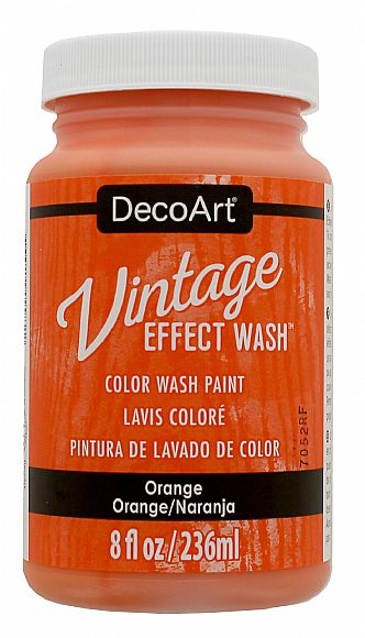 Vintage Effect Wash - Orange