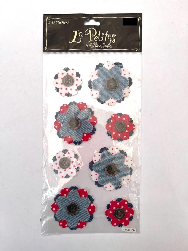 מדבקות תלת מימד - פרחים - Denim
