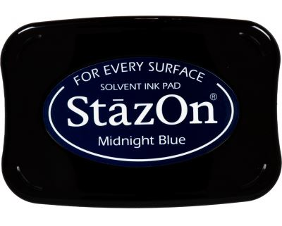דיו יבש StazOn Solvent Ink Pad - Midnight Blue