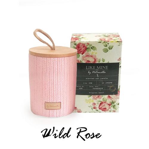 נר בכלי קרמיקה ורוד - Wild Rose