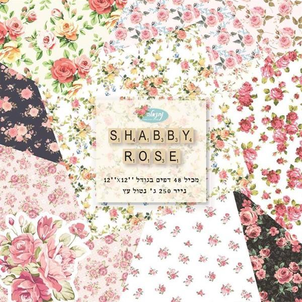 מארז דפי קארדסטוק - Shabby Roses