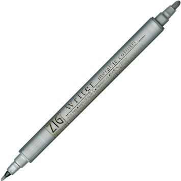 Zig Writer Metallic Marker - Silver