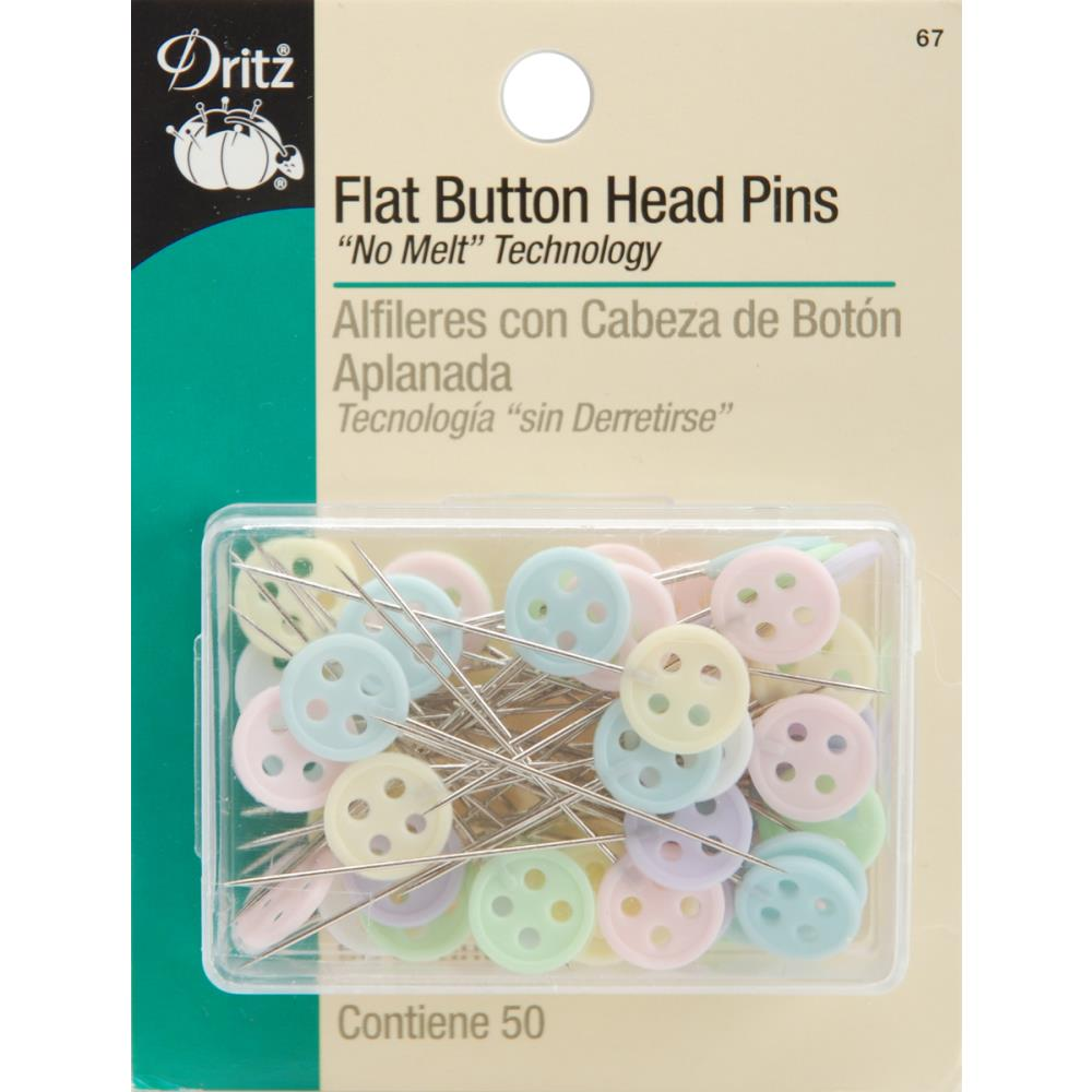 סיכות לתפירה - Button Head Pins