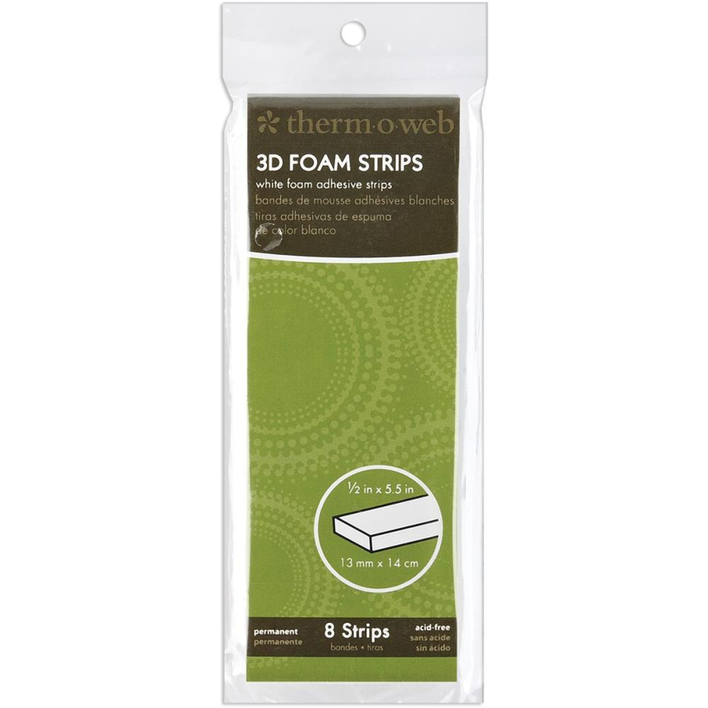 "דבק דו""צ - 3D Foam Strips - White 0.5""X5.5"""
