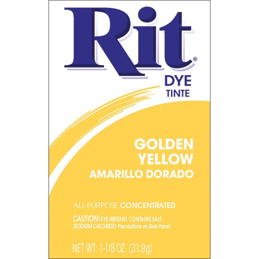 אבקת צבע לבדים Rit Dye Powder - Golden Yellow
