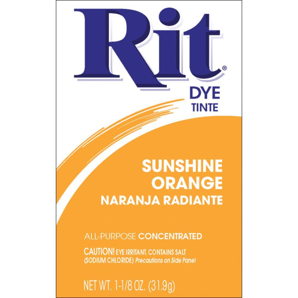 אבקת צבע לבדים Rit Dye Powder - Sunshine Orange