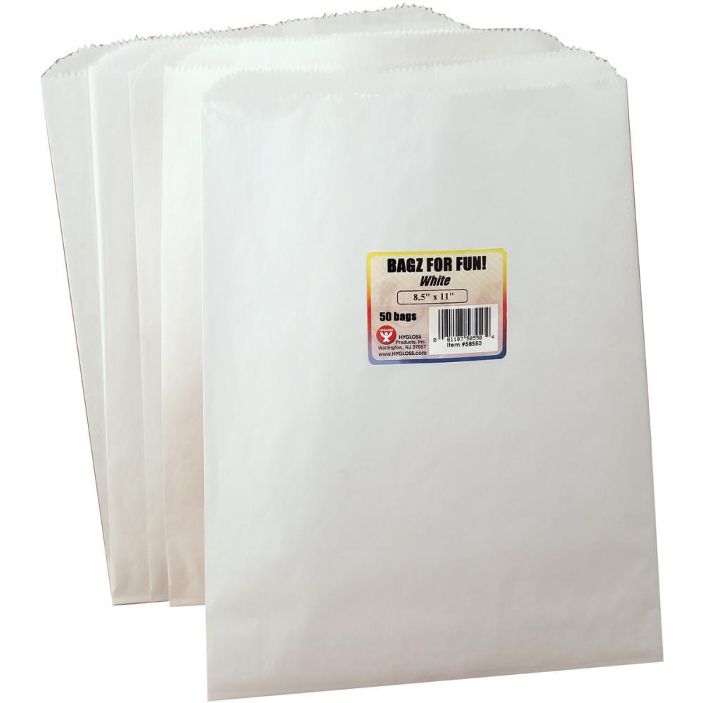 שקיות נייר לבנות - 50 יחידות