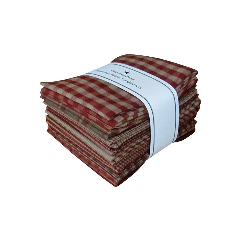 מארז רבעים שמנים: Homespun Fat Quarters - Red