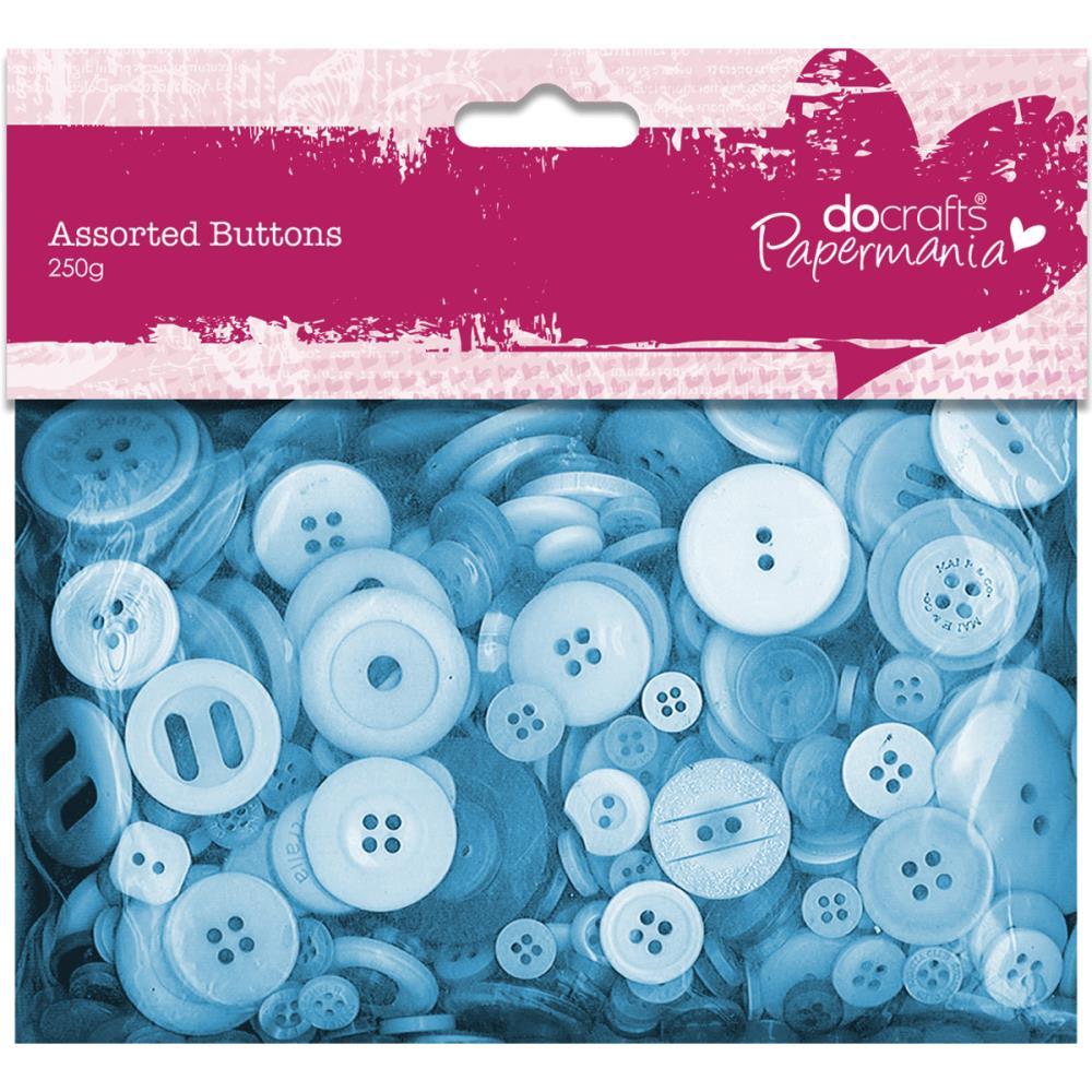 מארז כפתורים - Buttons Assorted 250g - Blue