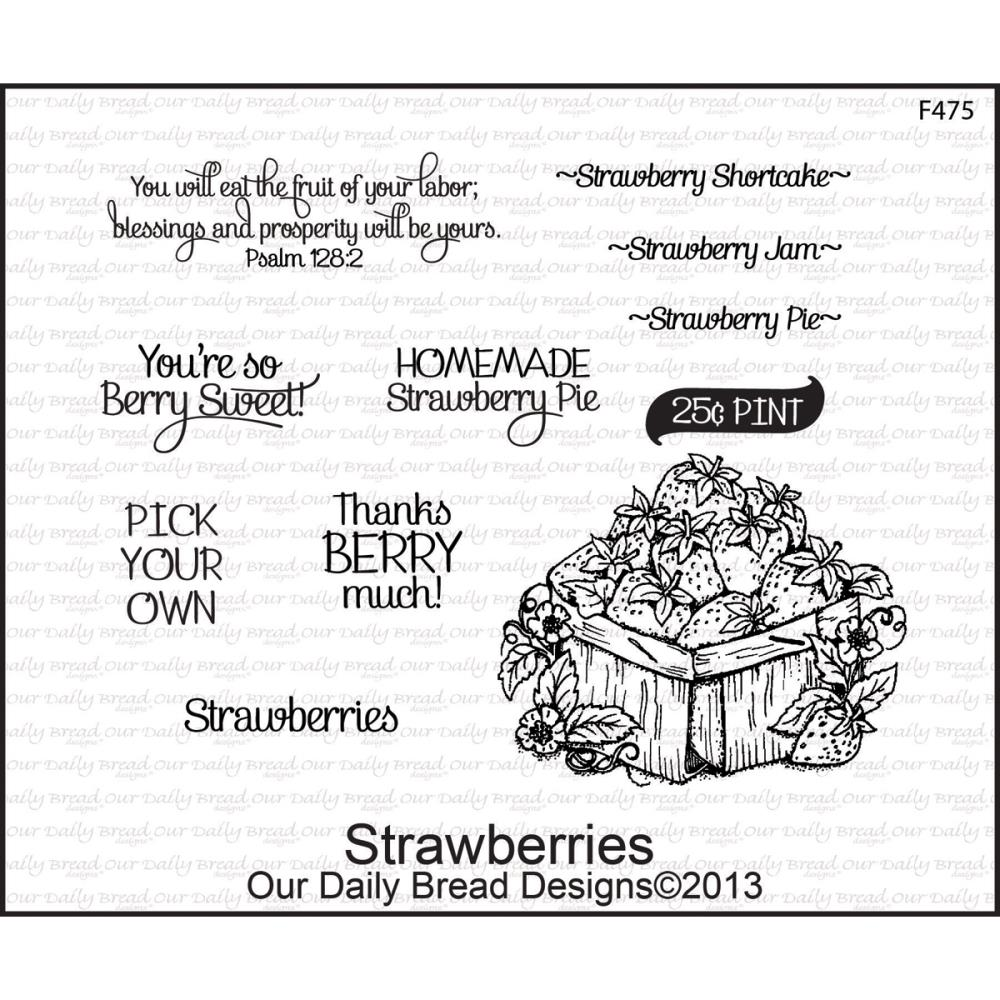 Our Daily Bread Cling Stamps - Strawberries