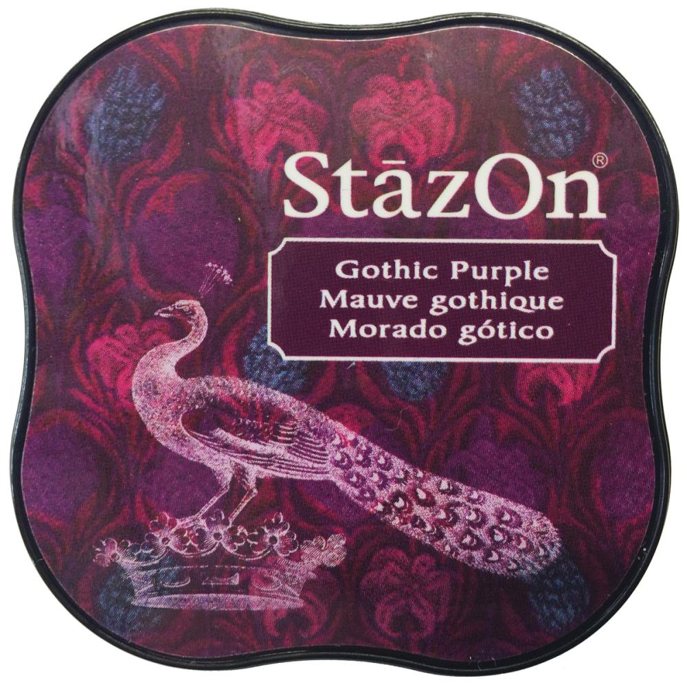 דיו יבש - StazOn Midi Ink Pad - Gothic Purple