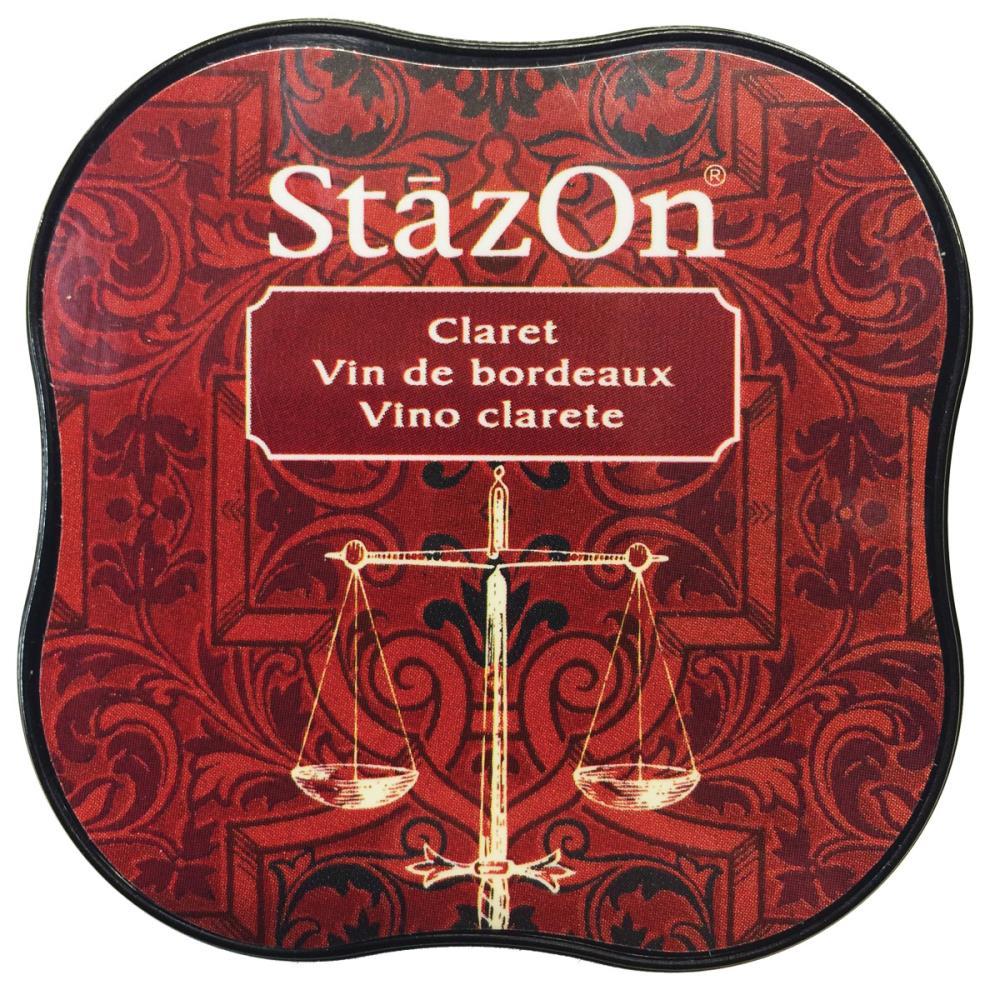 דיו יבש - StazOn Midi Ink Pad - Claret