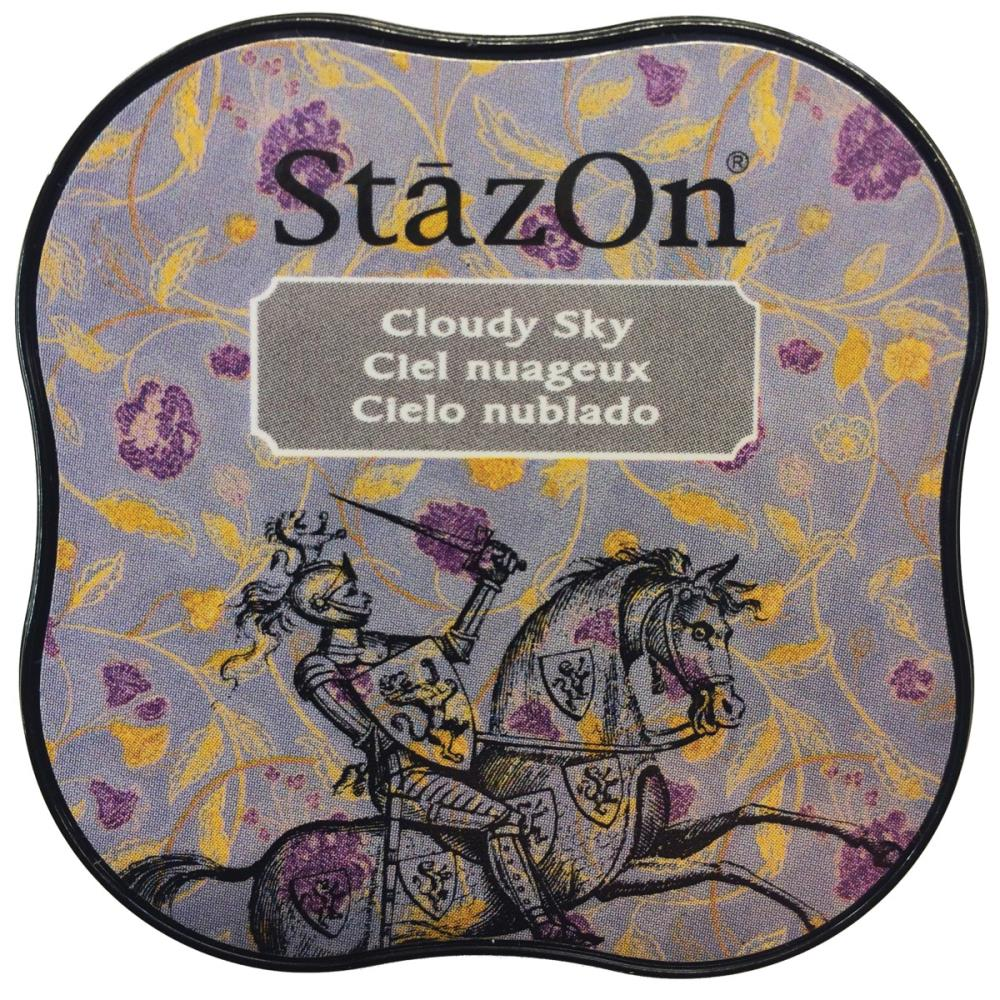 דיו יבש - StazOn Midi Ink Pad - Cloudy Sky