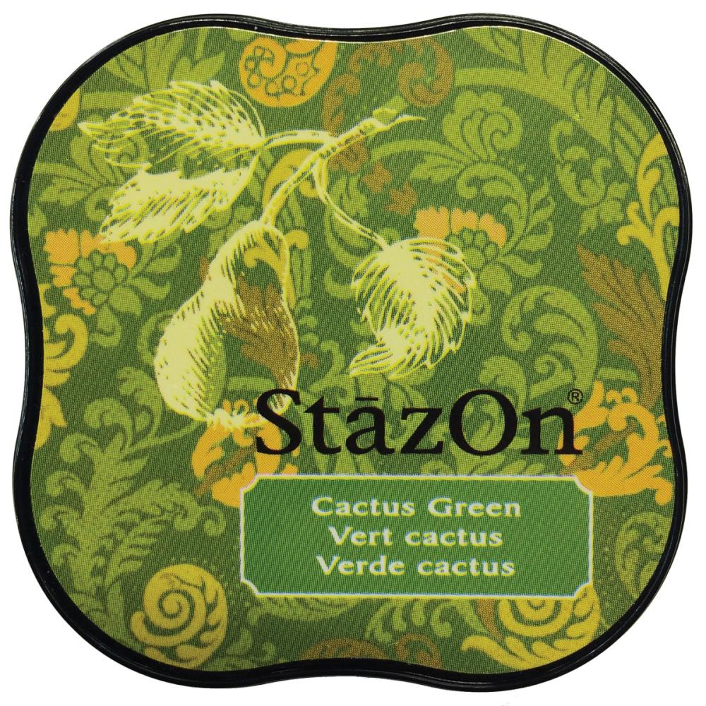 דיו יבש - StazOn Midi Ink Pad - Cactus Green