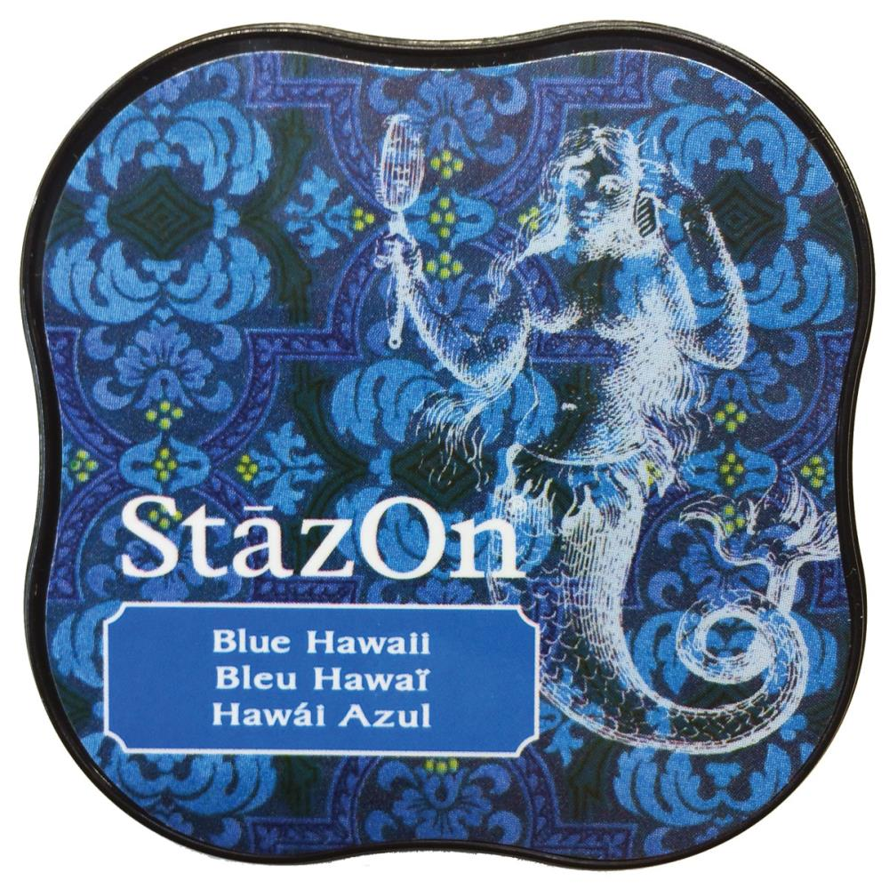 דיו יבש - StazOn Midi Ink Pad - Blue Hawaii
