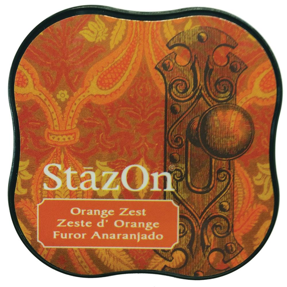 דיו יבש - StazOn Midi Ink Pad - Orange Zest