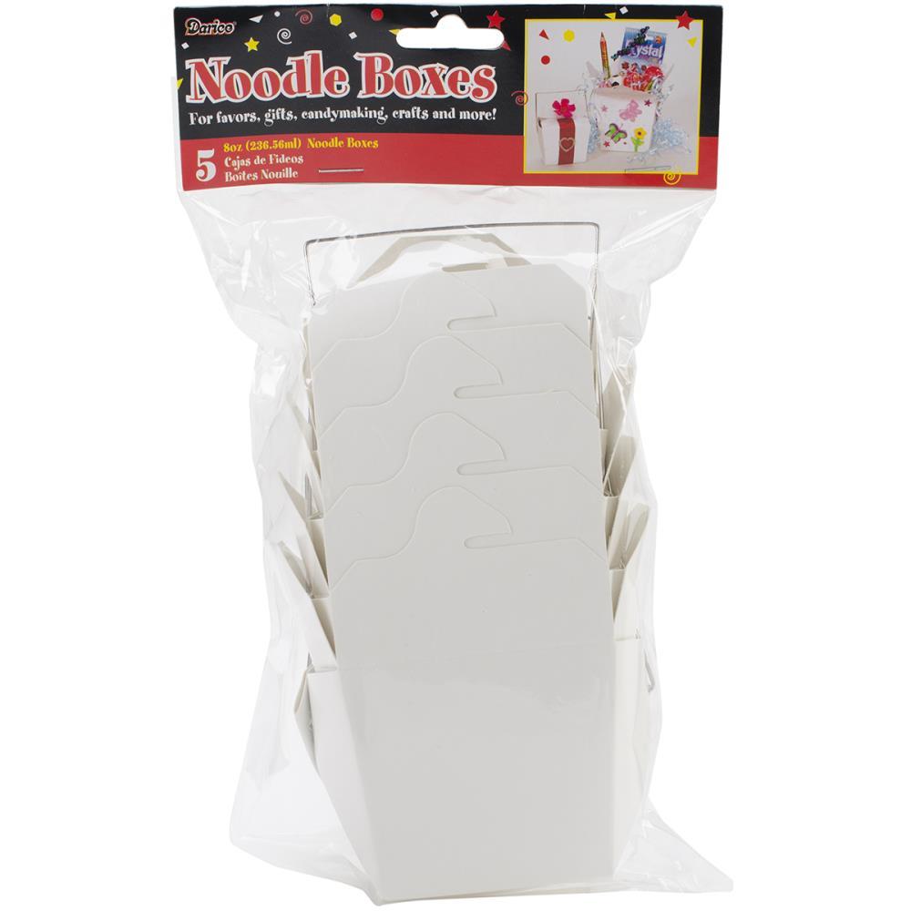 Noodle Boxes 8oz 5/Pkg - White