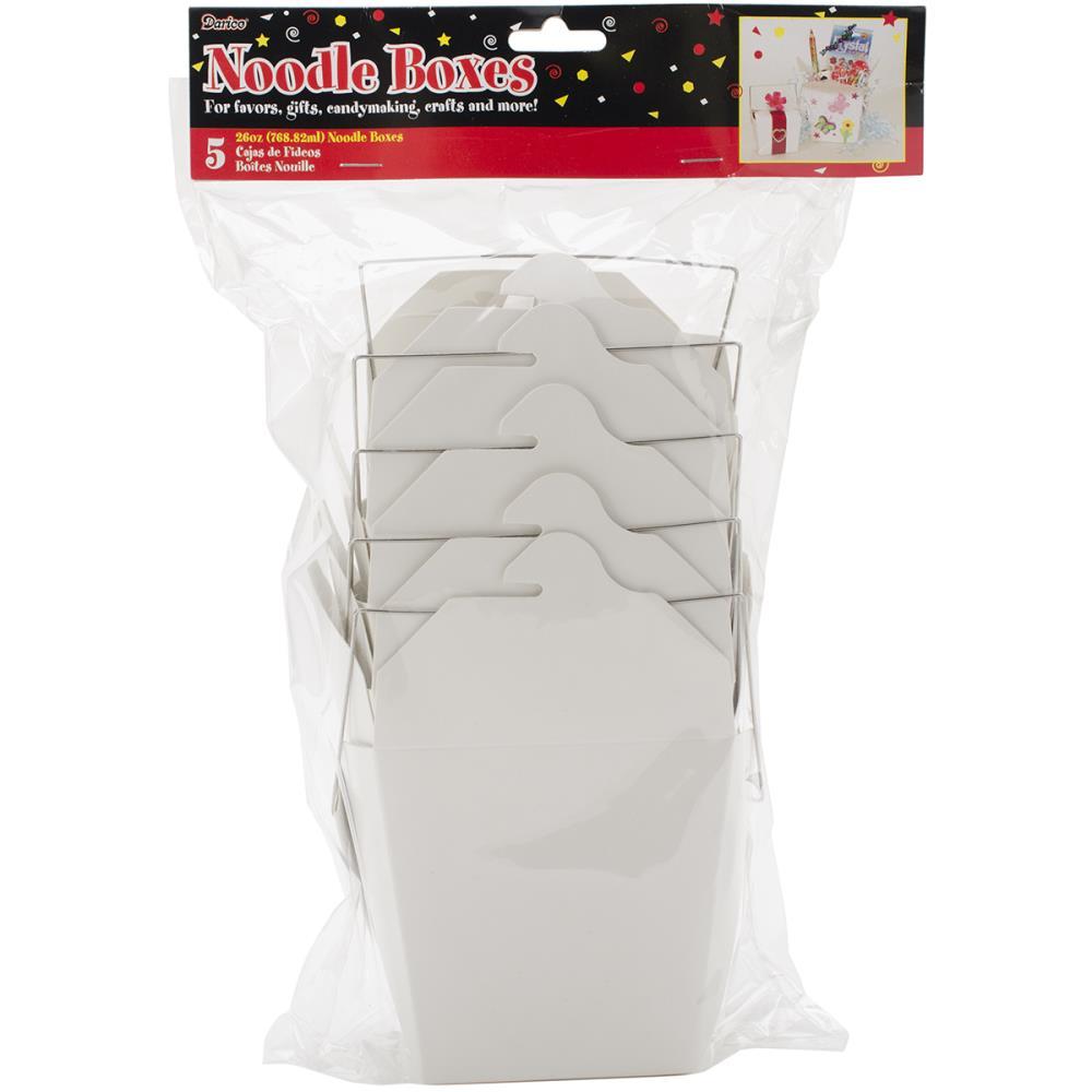 Noodle Boxes 26oz 5/Pkg - White