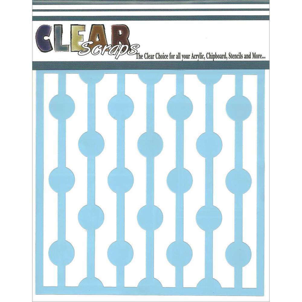 "Clear Scraps Stencils 6""X6"" - Bulb Strings"