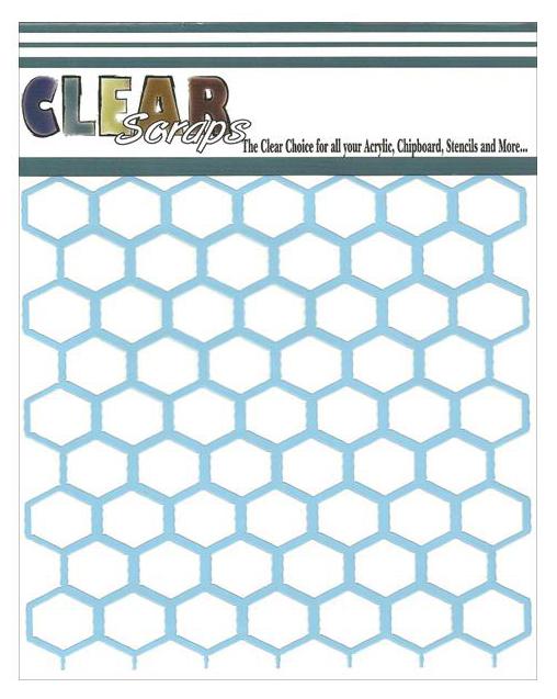 """Clear Scraps Stencils 12""""X12"""" - Chicken Wire"""