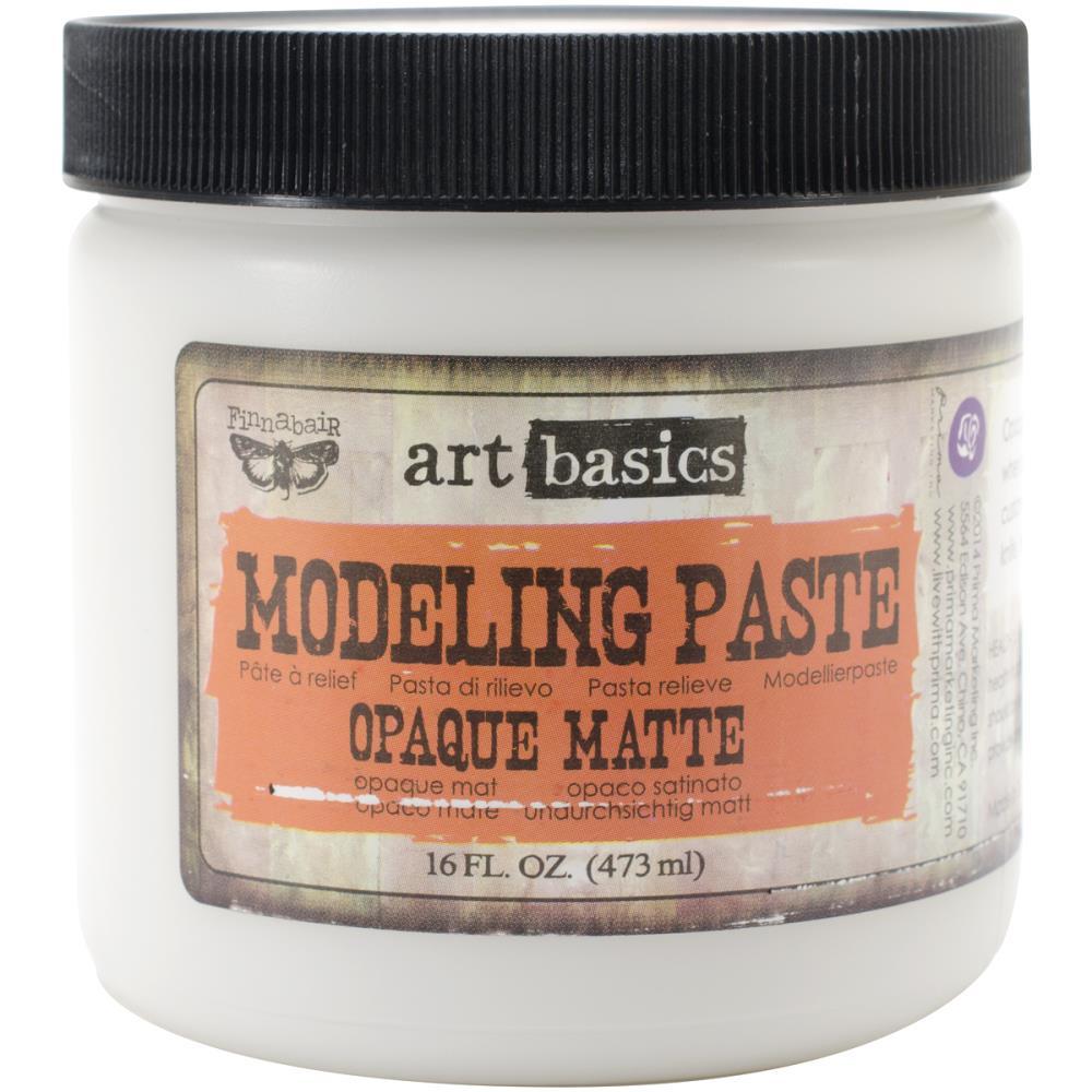 משחת עיצוב Art Basics Modeling Paste 16oz - Opaque Matte