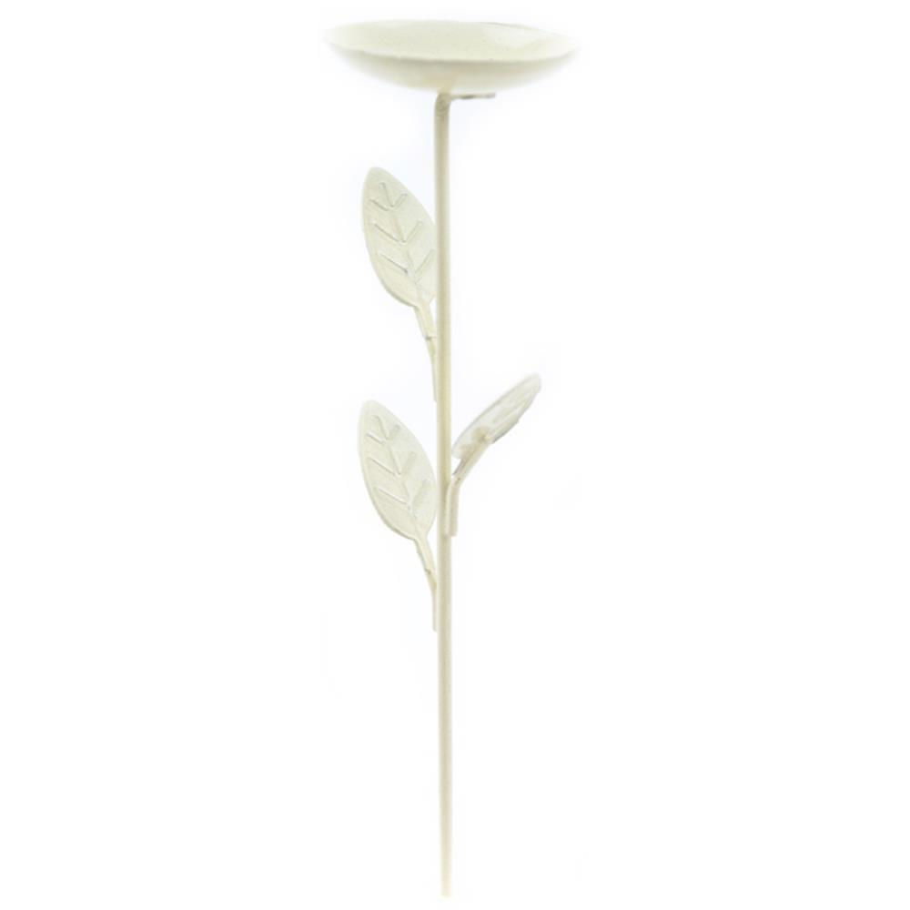 מיניאטורה Mini Iron Garden Birdbath - Cream