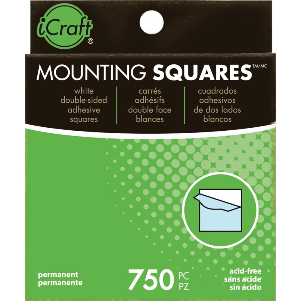 """ריבועי דבק - Mounting Squares - White .5"""""""