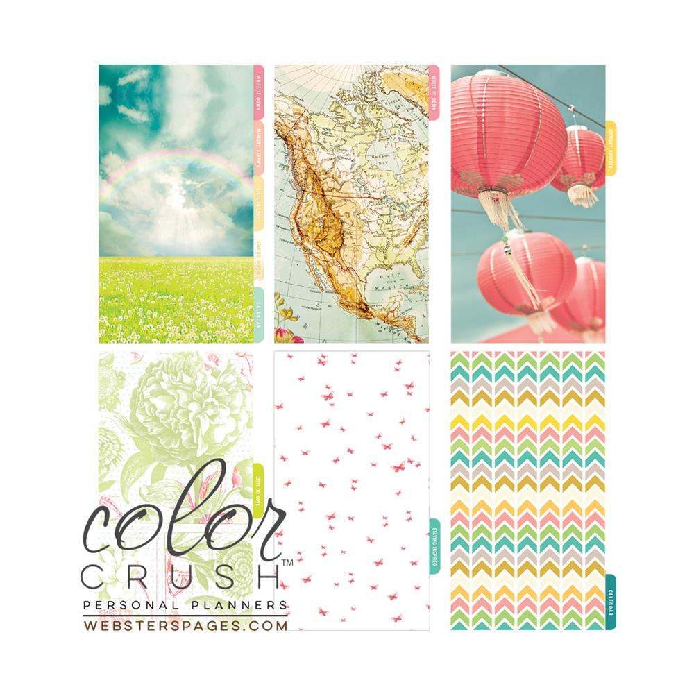 Color Crush Personal Planner Divider Set Kit - Life Is Beautiful