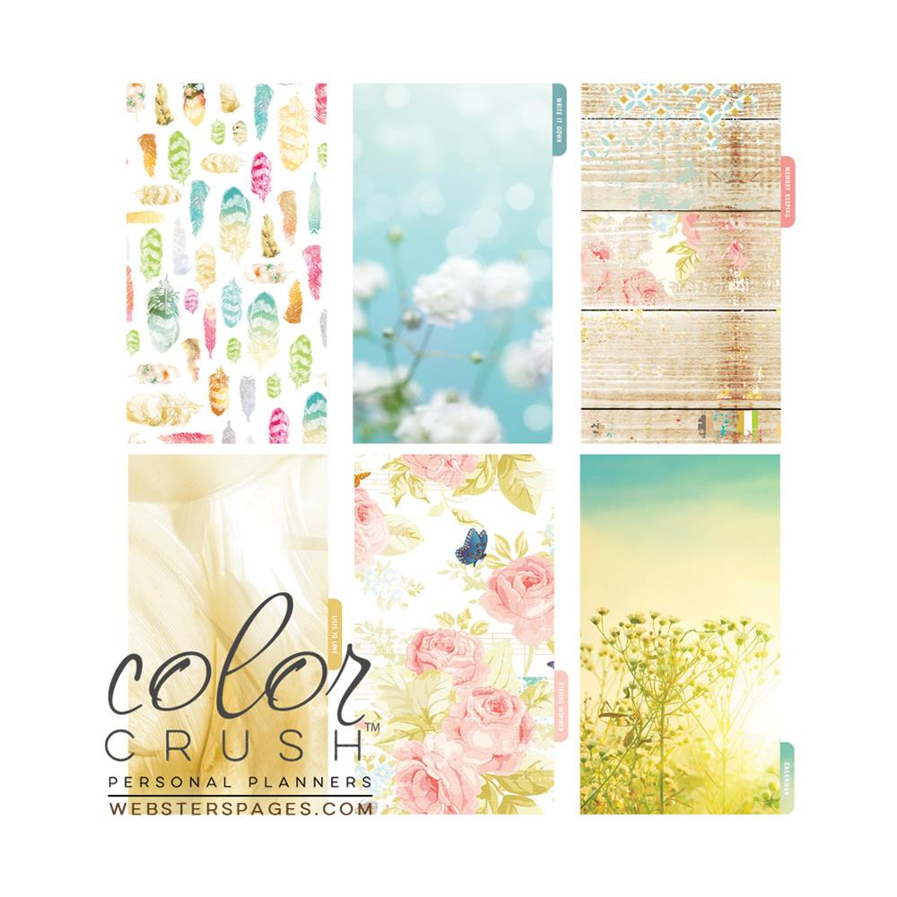 Color Crush Personal Planner Divider Set Kit - Be Happy, Be Bright