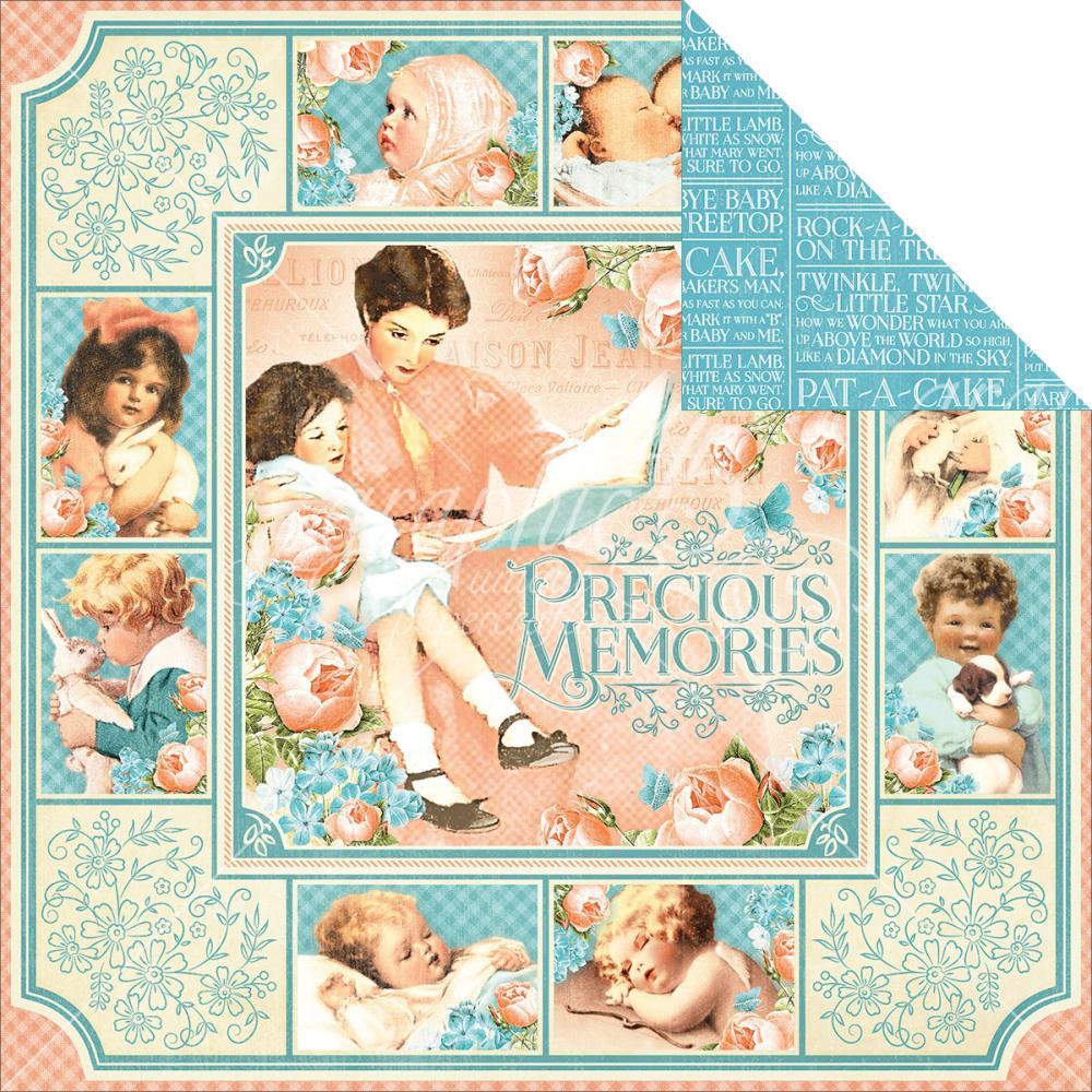 דף קארדסטוק - Precious Memories - Precious Memories