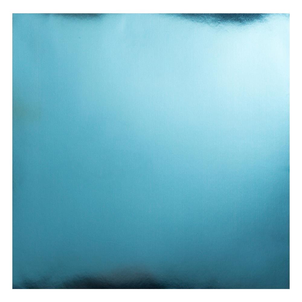 דף קארדסטוק - Bazzill Foil Cardstock - Baby Blue