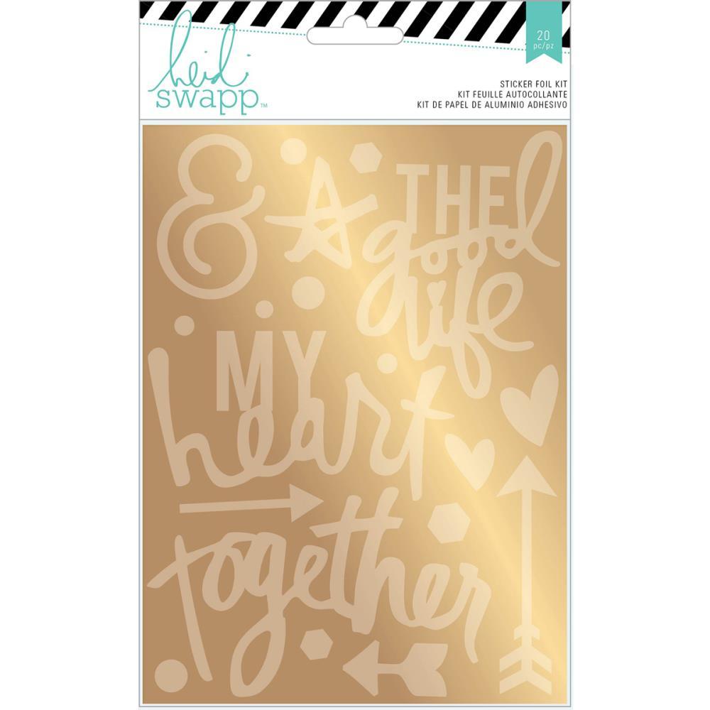 Wanderlust Stickers & Foil Kit - Gold Together