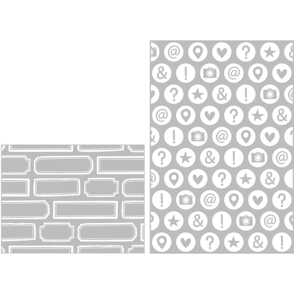 זוג תבניות הבלטה - Embossing Folders - High Five Edition