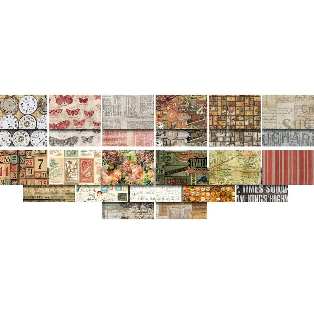 מארז בדים חתוכים: Eclectic Elements Foundations-Tim Holtz