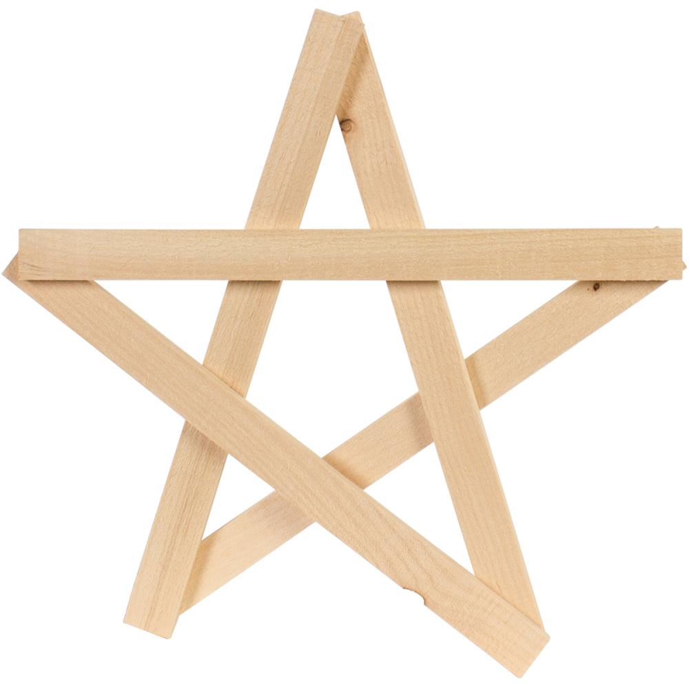 כוכב עץ - Rustic Open Star