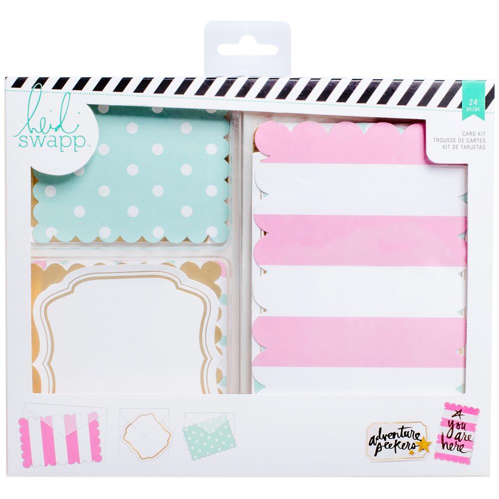 Heidi Swapp Cards W/Vellum Envelopes Kit