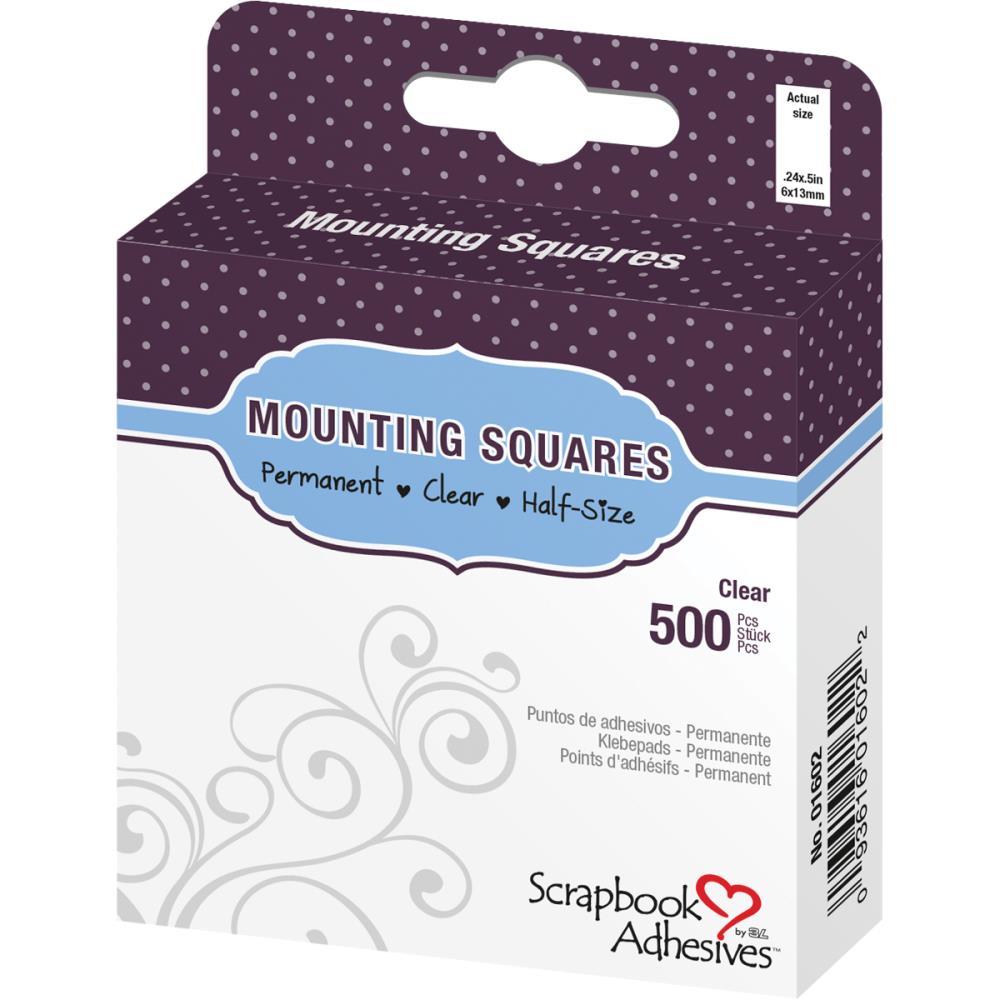 """ריבועי דבק דו""""צ -.25"""" Click 'n Stick Mounting Squares - Permanent"""