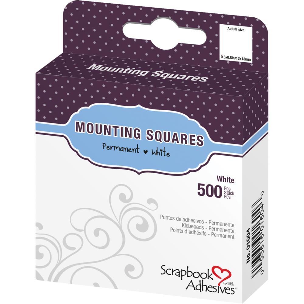"""ריבועי דבק דו""""צ - """"Click 'n Stick Mounting Squares 500/Pkg - White .5"""