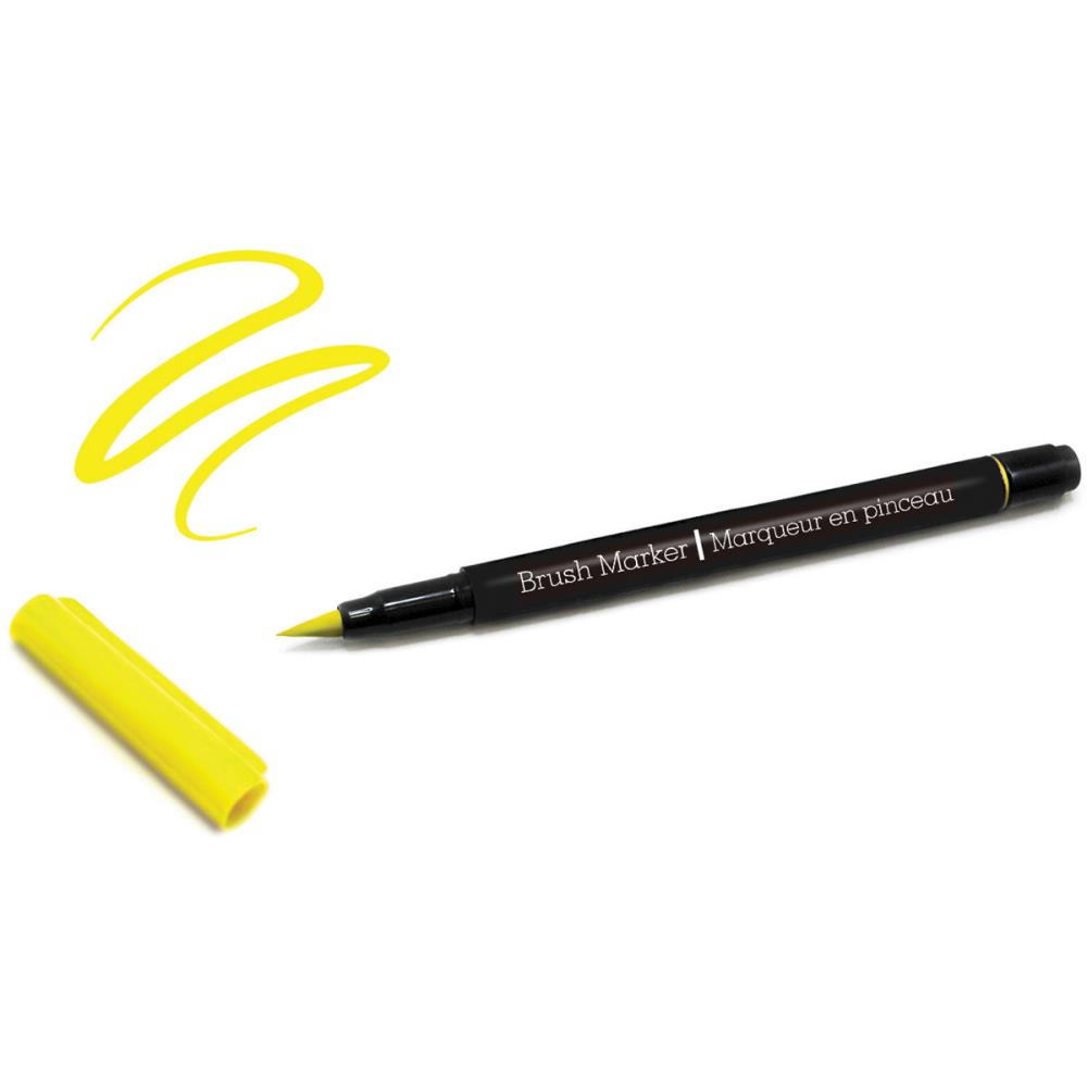 Color Factory Long-Tip Brush Marker - Yellow