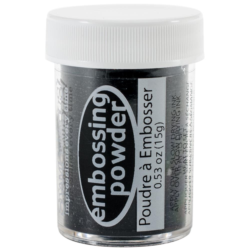אבקת הבלטה - Embossing Powder - Midnight Black Opaque