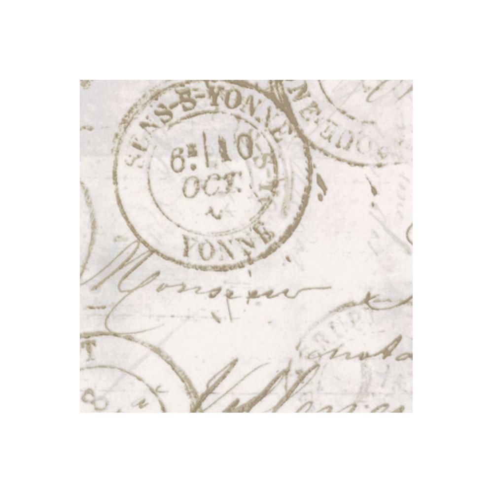 בד כותנה - Eclectic Elements Tim Holtz - Correspondence Taupe